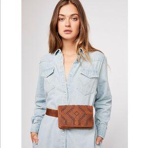 Free People Latitude Studded Belt Bag Leatherock